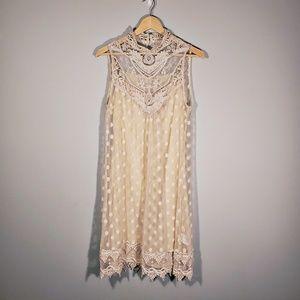 Anthropologie   A'reve Vintage Style Ivory Dress